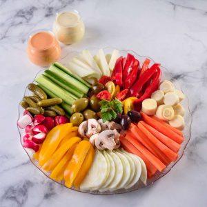 מגש ירקות<br> (מתאים ל 15 סועדים)